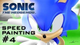 getlinkyoutube.com-SONIC THE HEDGEHOG - Speed Painting #4 (Game Style)