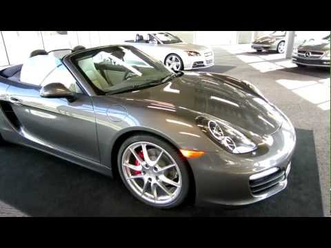 NEW Porsche 981 Boxster S walk around Agate Grey Pebble Grey Barber Motorsports Park LAUNCH