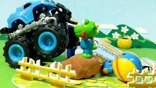 getlinkyoutube.com-뽀로로와 몬스터 트럭! 크롱의 대활약?! ★뽀로로 장난감 애니 ポロロとモンスタートラック