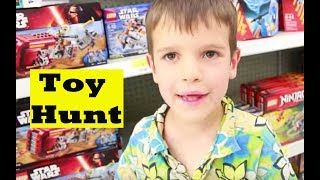 getlinkyoutube.com-Toy Shopping TOO MANY BABIES Toy Hunt Christmas Presents Legos Frozen Baby Dolls Shopkins Star Wars