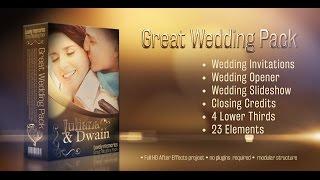 getlinkyoutube.com-Wedding Pack - Lovely Memories After Effects Project. Weddings premium template.