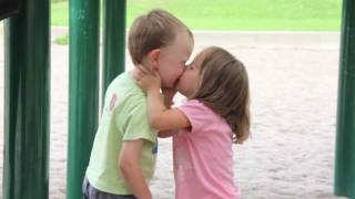 getlinkyoutube.com-Kids First Kiss at the Playground