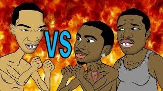 getlinkyoutube.com-Lil B vs Ice JJ Fish & 50 Tyson (HHB Cartoon Parody)