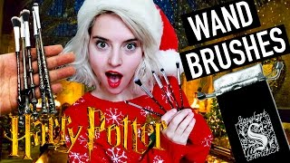 getlinkyoutube.com-Harry Potter Make Up Brushes Wizard Wand Unboxing | Mail Time