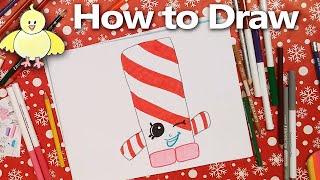 getlinkyoutube.com-How to Draw Shopkins:  Candy Cane Twist  step by step drawing tutorial