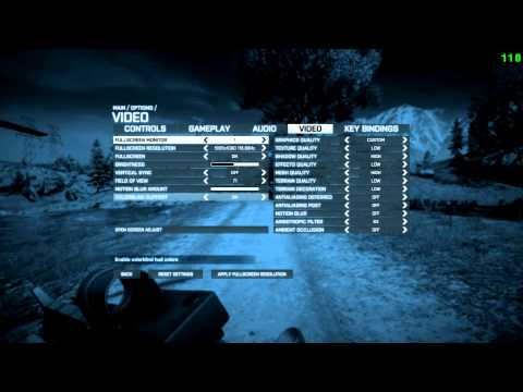Xfactor's Battlefield 3 Video Settings