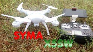 getlinkyoutube.com-[Unboxing - TEST] Syma X5SW-1 RTF RC Quadcopter, Camera WIFI FPV