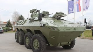 getlinkyoutube.com-Lazar 2 MRAV MRAP 8x8 armoured Yugoimport video report Army Recognition Defense Web TV Serbia