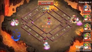 getlinkyoutube.com-Castle Clash : Kale Savaşı 3 kişi tek kabak mesa 4 kesimi