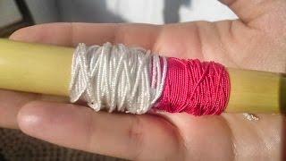 getlinkyoutube.com-طريقة بريم الحرير لعقاد الجلابة - فتل الخيط -