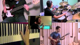 getlinkyoutube.com-Dream Theater - Under a Glass Moon (Images  Words) - SPLIT SCREEN COVER - The Unflexable Band