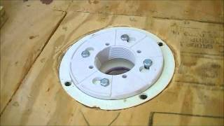 getlinkyoutube.com-How To Install Drain For Shower  ( 2''  Oatey PVC Assembly )