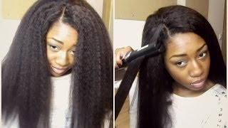 getlinkyoutube.com-Realistic Looking Hair! (Dream Tresses Mongolian Kinky Straight)