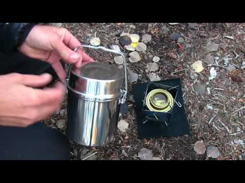 Boulder Mountain Coffee On The Firebox Nano & Trangia Alcohol Stove In The Zebra Bush Pot.