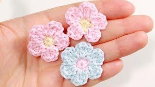 getlinkyoutube.com-Простой цветок крючком ♥ Как связать цветок крючком