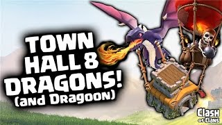 getlinkyoutube.com-Town Hall 8 Attack Strategy in Clash of Clans - Dragon & Balloon Three Stars!