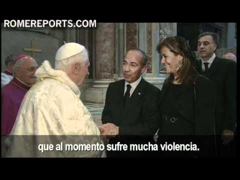 President of Mexico's meeting with pope after beatification of John Paul II