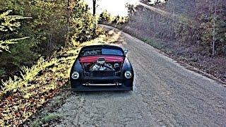 getlinkyoutube.com-1950 CHOPPED FORD SHOEBOX COUPE BAGGED HOT ROD RAT ROD LEAD SLED SUICIDESPEED C.C.