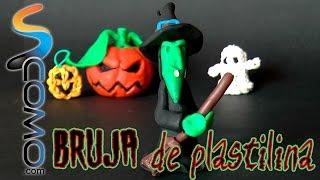 getlinkyoutube.com-Bruja de plastilina para Halloween