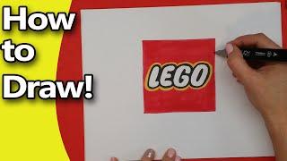 getlinkyoutube.com-How to Draw the LEGO logo Step by Step