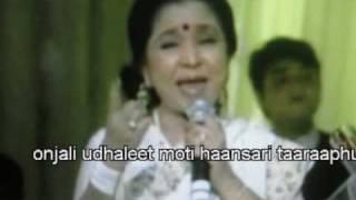 getlinkyoutube.com-Asha Bhosle: Chandane Shimpit Jashi (Live Recording - Marathi Bhavgeet)