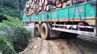 getlinkyoutube.com-FUSO 380 logging truck