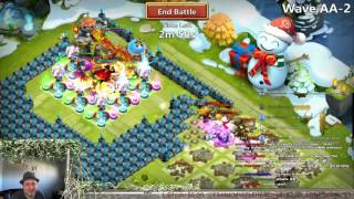 Castle Clash - HBM AA5 Almost Killed It