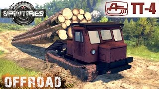 getlinkyoutube.com-SpinTires SKIDDER TT 4 CRAWLER TRACTOR OFF-ROAD TEST