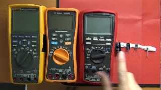 getlinkyoutube.com-Fluke 287 vs Agilent U1272A vs Brymen BM867 - Capacitance Measurement