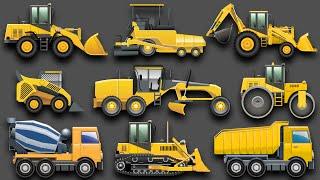 getlinkyoutube.com-Learning Construction Vehicles for Kids - Construction Equipment Bulldozers Dump Trucks Excavators