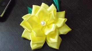 getlinkyoutube.com-D.I.Y. Satin Ribbon Flower - Tutorial   MyInDulzens