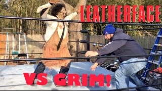 LEATHERFACE FIGHTS FAT YOUTUBER IN SCARIEST GTS WRESTLING MATCH EVER!