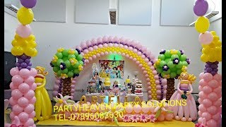 getlinkyoutube.com-Balloon Arch (Large Flat Arch)