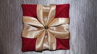 "getlinkyoutube.com-Оригами  цветок из ткани ""Петуния"""