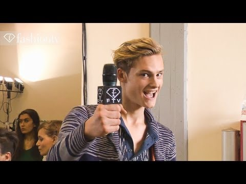 Missoni's Handsome Male Models - Backstage at Spring 2013 Milan Men's Fashion Week | FashionTV FMEN