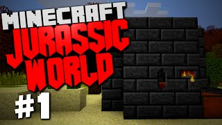 "Jurassic World | Minecraft Rexxit Modpack #1 ""Smeltery, Tool Forge, Getting Started"""