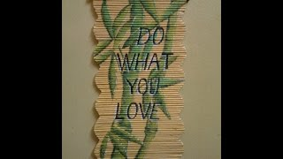 getlinkyoutube.com-Best Out Of Waste Paper Wall Hanging - Bamboo Plant Painting.(Part-1)