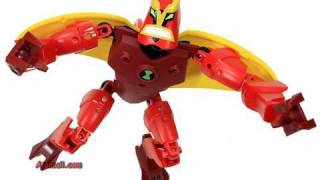 getlinkyoutube.com-LEGO Ben 10 Jet Ray Toys Action Figure Review HD Unboxing