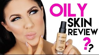 getlinkyoutube.com-SMASHBOX STUDIO SKIN FOUNDATION FOR OILY SKIN?! | REVIEW + 12 HOUR WEAR TEST!!
