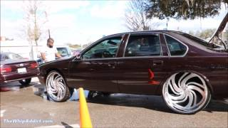 getlinkyoutube.com-WhipAddict: 96' Chevrolet Caprice tuckin Amani Forged Petto 26s, Yukon Interior, Car Audio
