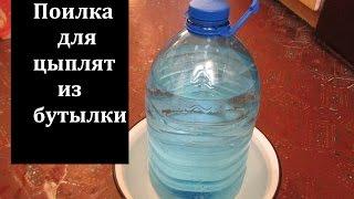 getlinkyoutube.com-Поилка для кур, из пластиковой бутылки, своими руками.