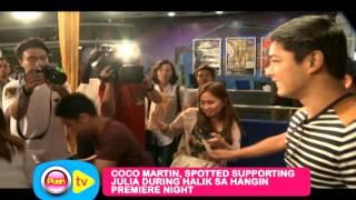 getlinkyoutube.com-Julia Montes nagulat sa presence ni Coco Martin sa premiere ng Halik Sa Hangin