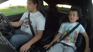 getlinkyoutube.com-9 year old brother's reaction to first drive in Ford Focus RS MK2