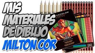 getlinkyoutube.com-Mis Materiales de Dibujo - Prismacolor - Sakura - Steadtler   Milton Cor