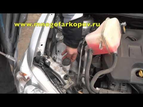 Амортизатор (упор) капота на Toyota Corolla KU-TY-CL10-00 (обзор, установка)
