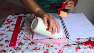 Volta às aulas | DIY Como customizar seu caderno com tecido!