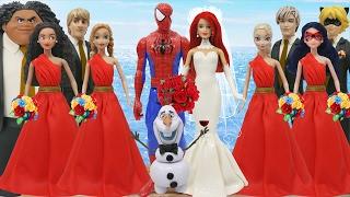 getlinkyoutube.com-Play Doh Spiderman Mary Jane Moana Maui Elsa Jack Frost Anna Kristoff Olaf Lady Bug Cat Noir OLAF