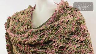 getlinkyoutube.com-How to Crochet A Wrap: Lattice Lace Wrap