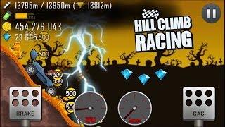 getlinkyoutube.com-Hill Climb Racing: Garage RACE CAR 17281m / Haunted