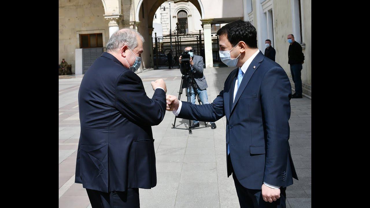Armenian President visits Parliament of Georgia